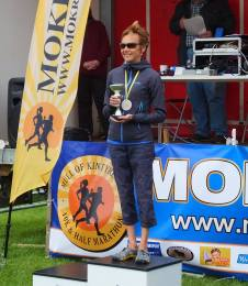Lorna with 1st O50 trophy