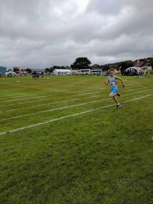 Harry winning the 200m at Rothesay the previous day