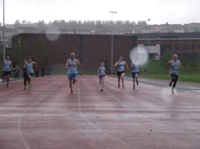 The Final underway in heavy rain